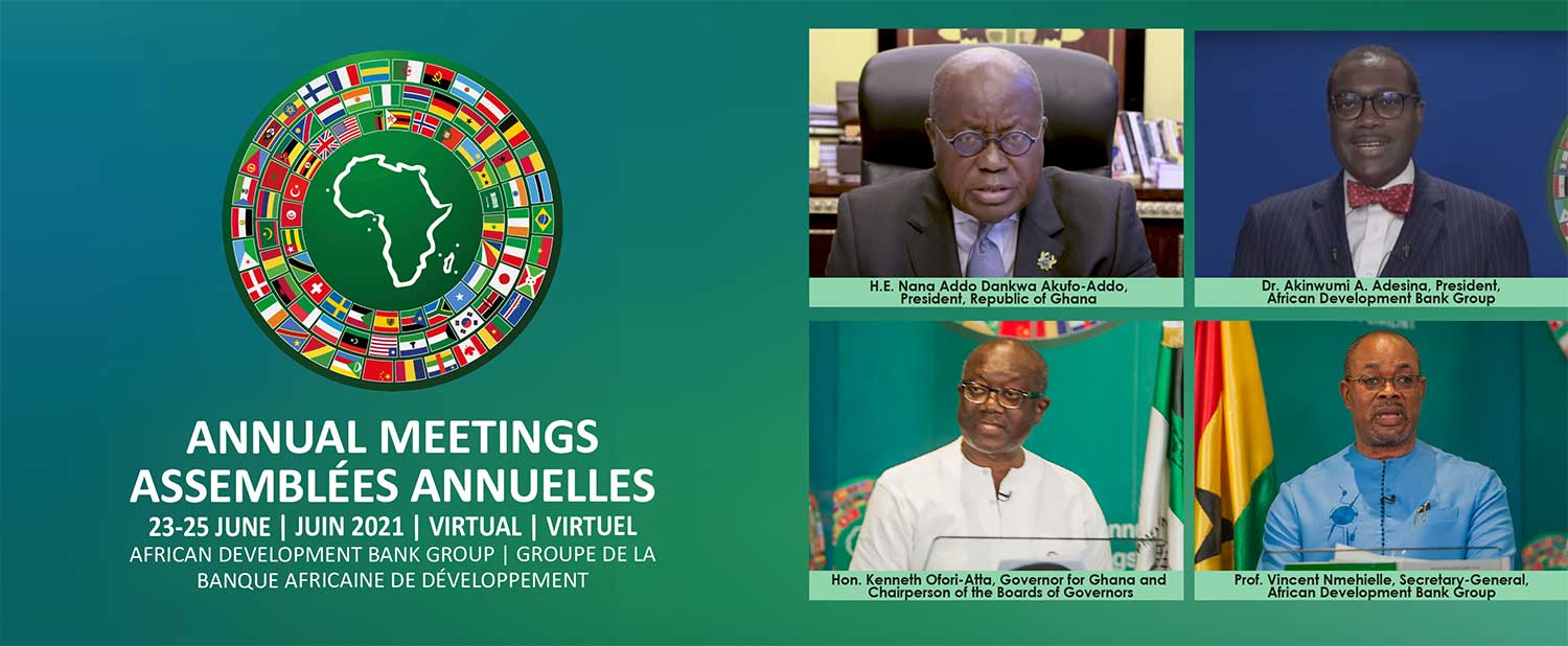 Strong partnerships, boldness needed to tackle Covid-19 challenges, Ghanaian President Akufo-Addo says at African Development Bank Annual Meetings
