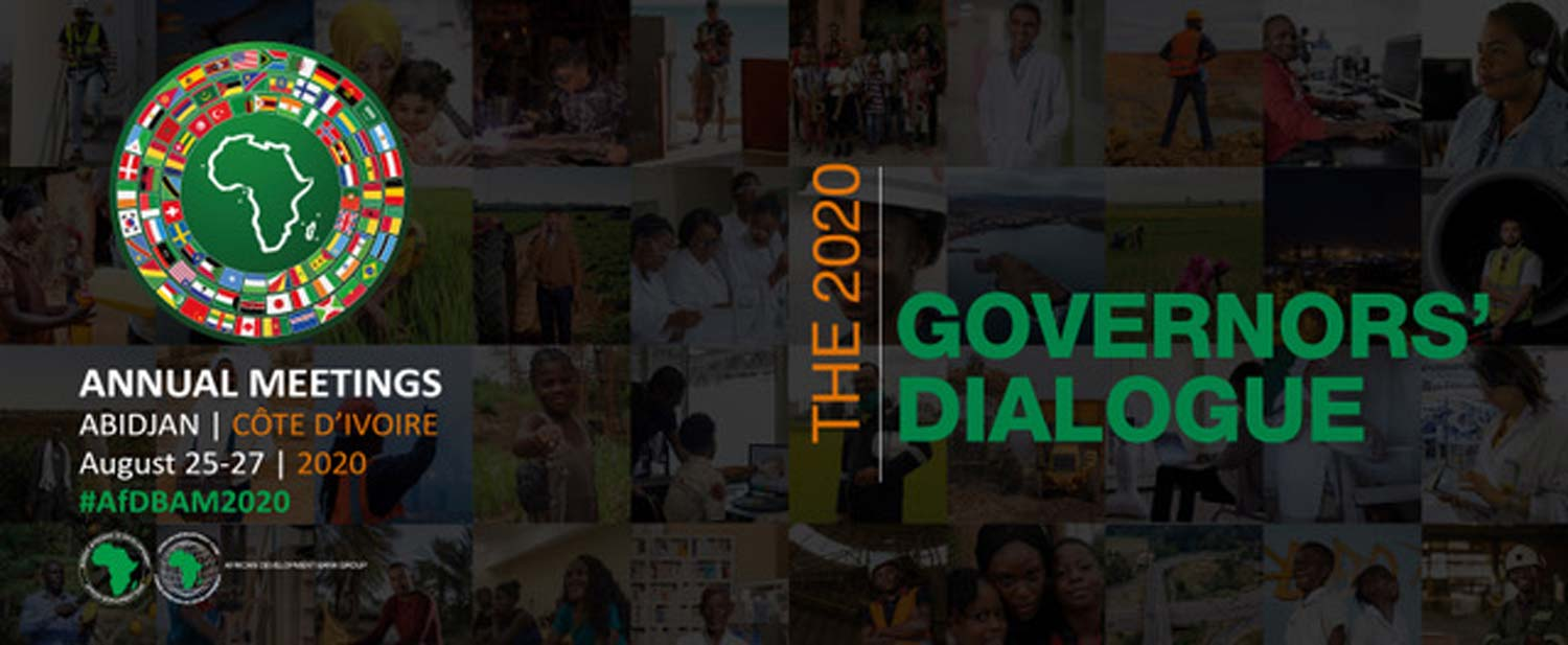 African Development Bank 2020 Annual Meetings: Governors' Dialogue: a key moment of the meetings